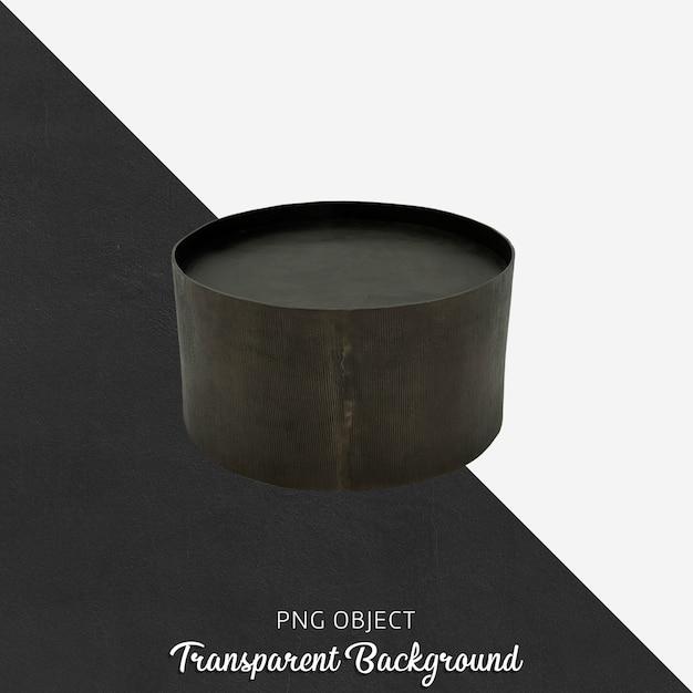 Bougeoir Noir Sur Transparent PSD Premium