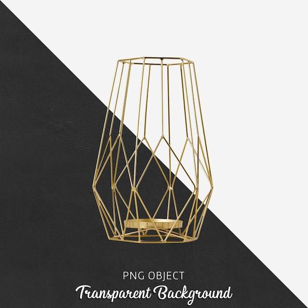 Bougeoir En Or Sur Transparent PSD Premium