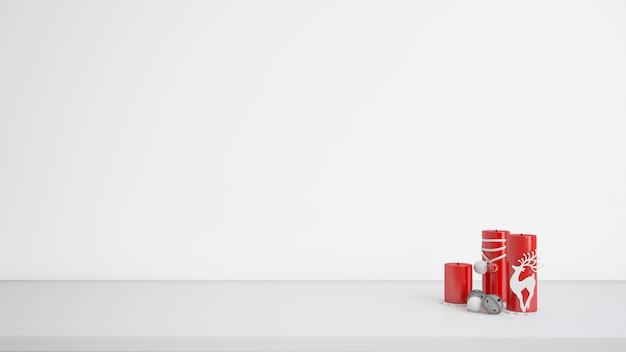 Bougies Avec Des Dessins De Noël Psd gratuit