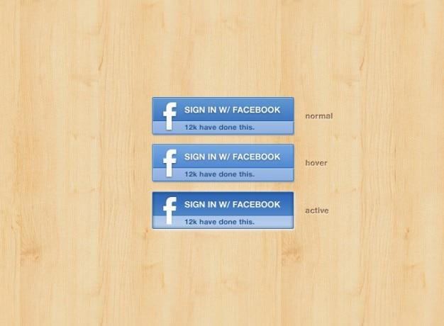 Bouton facebook facebook facebook bouton signin Psd gratuit