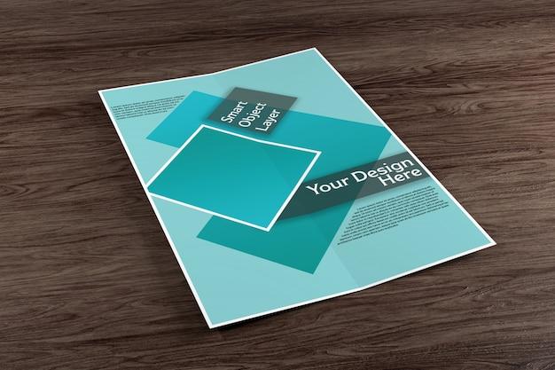 Brochure à deux volets maquette PSD Premium