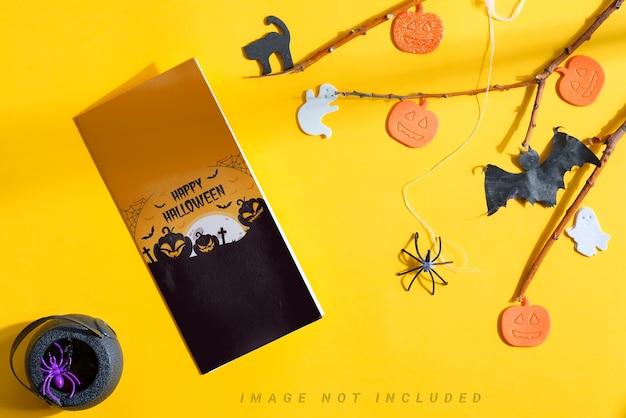 Brochure De Maquette Halloween Avec Décoration De Vacances. PSD Premium