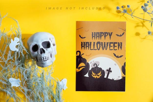 Brochure De Maquette D'halloween Avec Décoration. PSD Premium