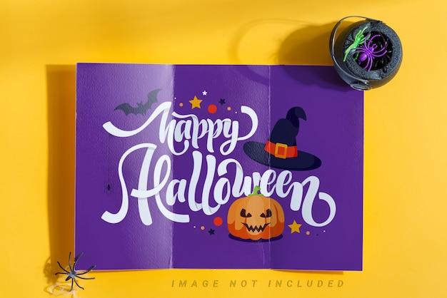 Brochure Papier à Trois Volets Pour Halloween PSD Premium
