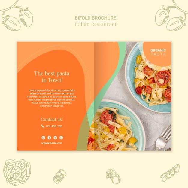 Brochure Pliante De Restaurant Italien Psd gratuit