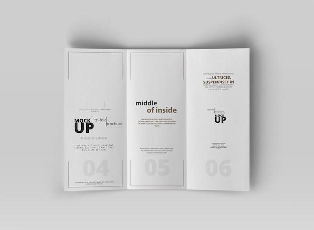 Brochure à trois volets PSD Premium