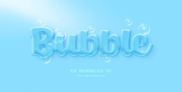 Bubble 3d effet de style de texte PSD Premium