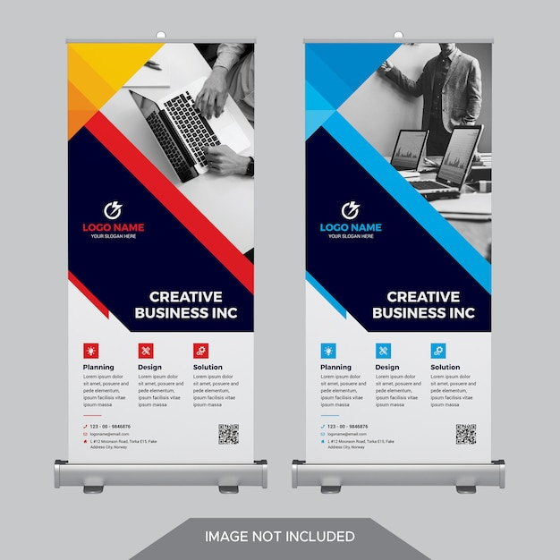 Business roll up banner PSD Premium