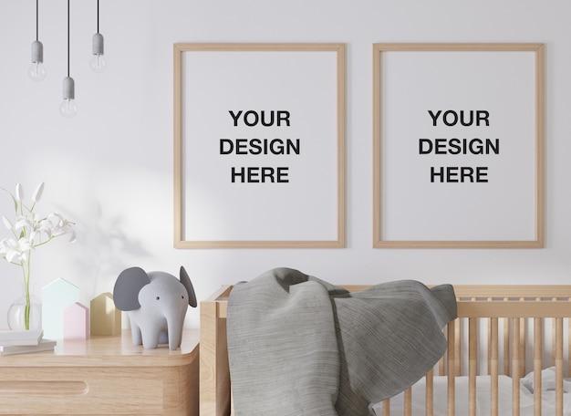 Cadre D'affiche De Maquette Dans La Chambre D'enfants PSD Premium
