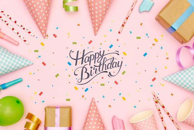 Cadre De Décorations Pour Fête D'anniversaire Psd gratuit