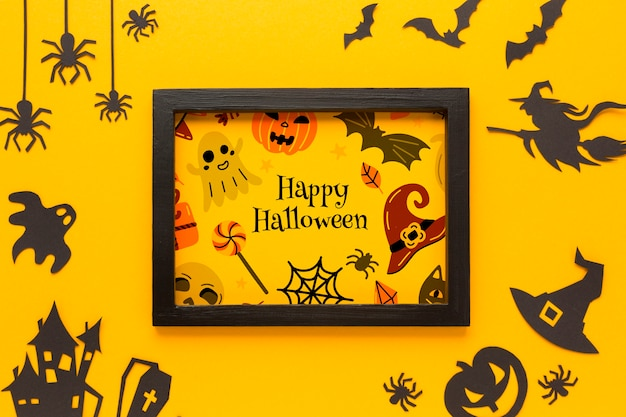 Cadre Avec Dessin Halloween Psd gratuit