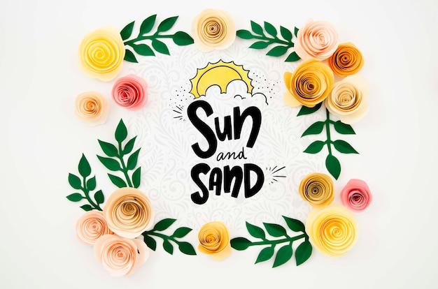 Cadre Floral Créatif Avec Message Psd gratuit