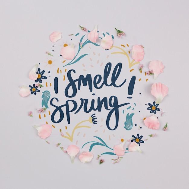 Cadre floral plat Psd gratuit