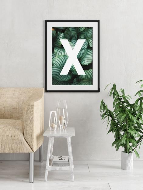 Cadre mural simple moderne PSD Premium