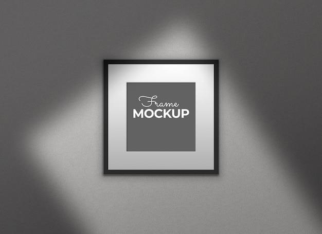 Cadre Noir Avec Maquette D'ombres Psd gratuit