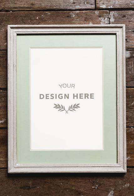 Cadre photo espace design Psd gratuit