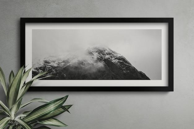 Cadre Vide Sur Un Mur Psd gratuit