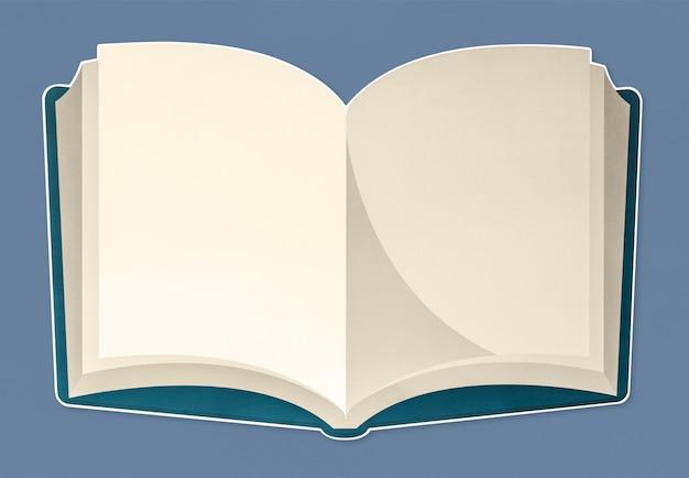 Un cahier ouvert avec des pages blanches PSD Premium