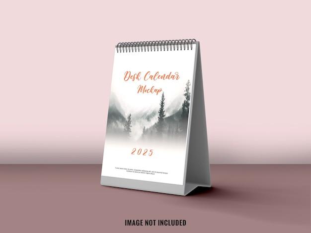 Calendrier De Bureau Debout Avec Maquette De Couleur Douce PSD Premium