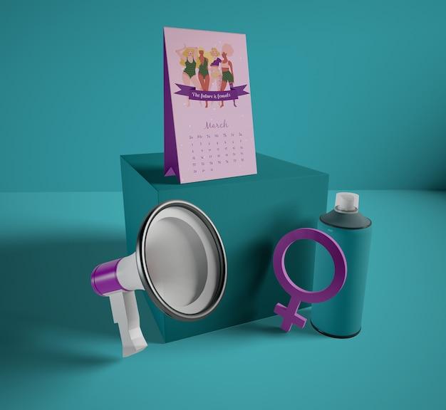Calendrier De La Journée Internationale De La Femme Psd gratuit