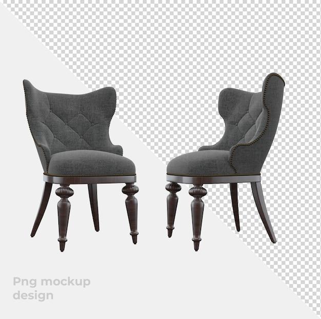 Canapé Classique Rendu 3d Décoration Et Design D'intérieur PSD Premium