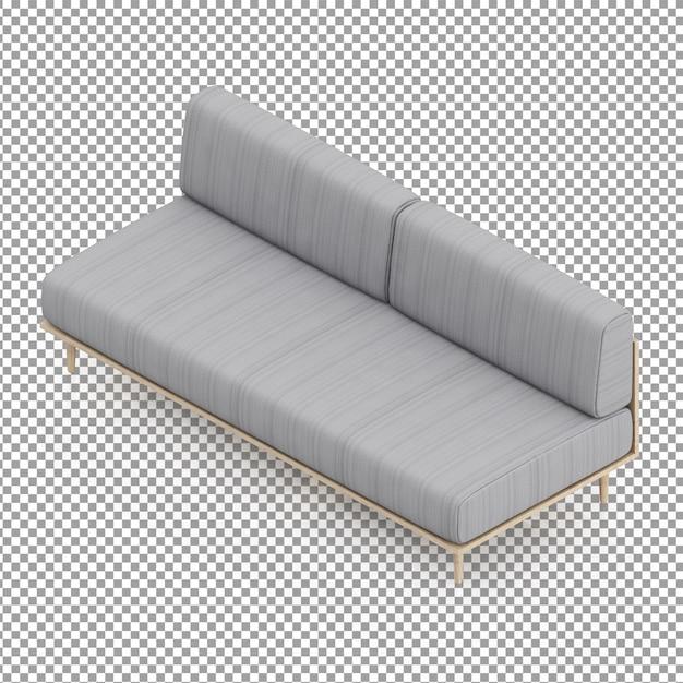 Canapé Gris Isométrique PSD Premium