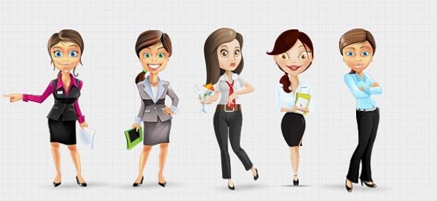 Caractères businesswoman dans le style propre Psd gratuit