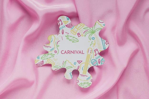 Carnaval Brésilien Découpé Sur Tissu Psd gratuit