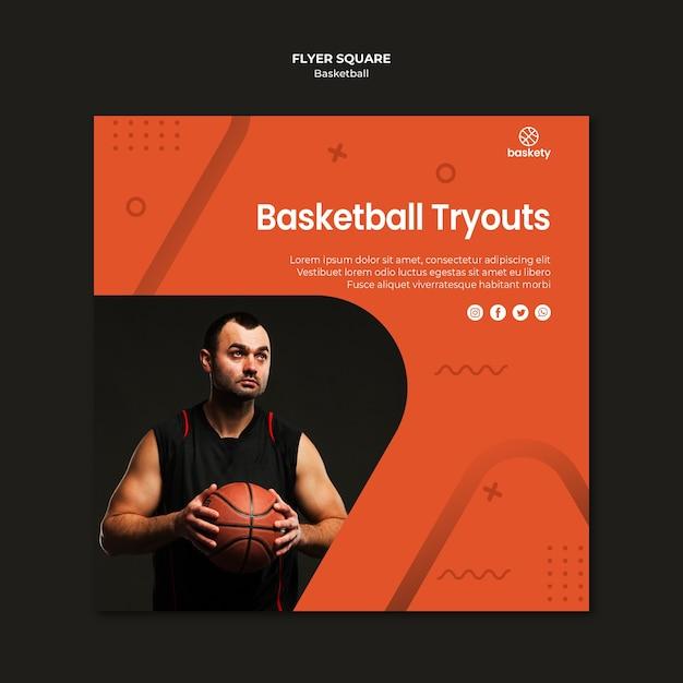 Carré De Flyers De Basket-ball Psd gratuit