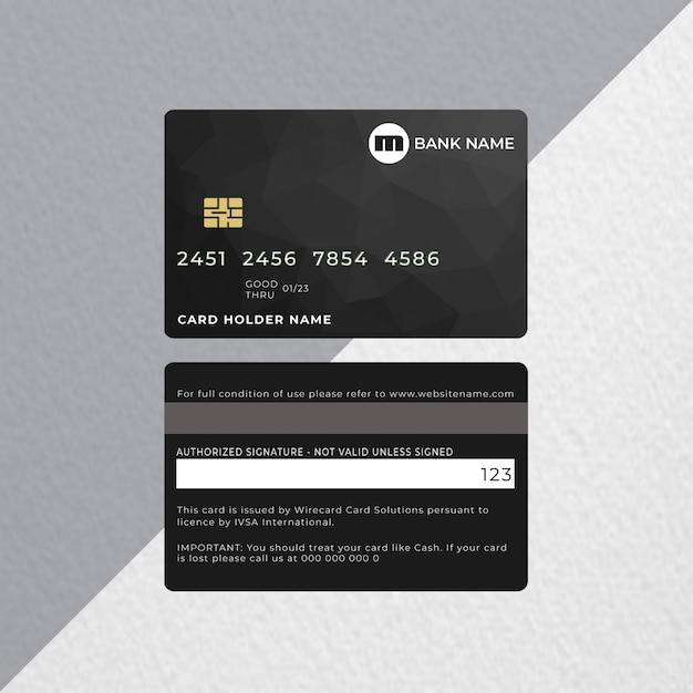 Carte de crédit ou carte bancaire PSD Premium