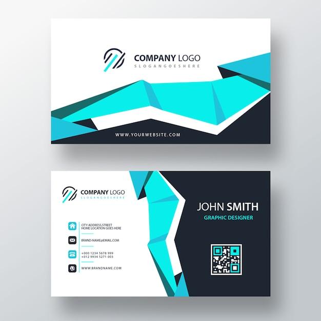Carte d'entreprise psd bleu clair Psd gratuit