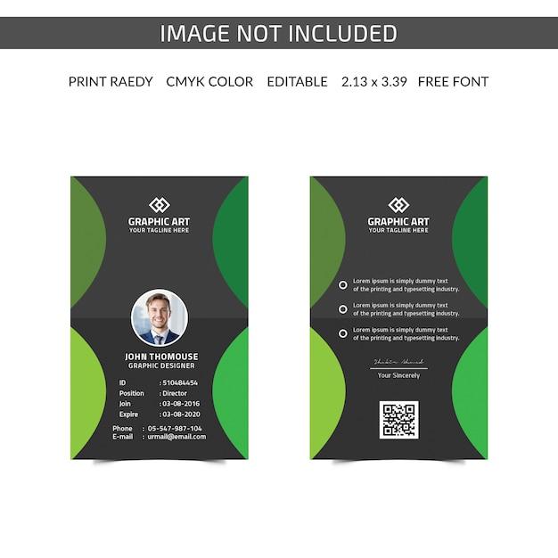 Carte d'identité d'entreprise simple PSD Premium