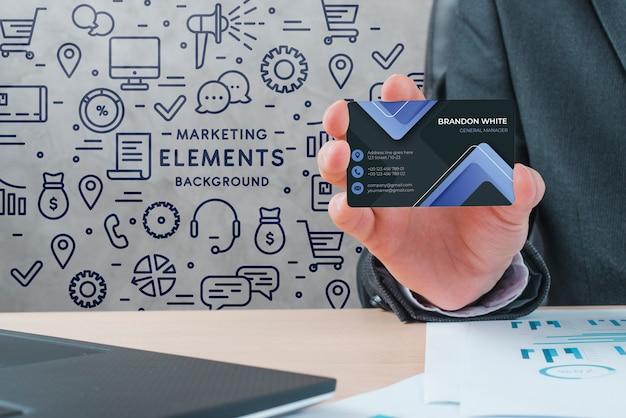 Carte d'identité d'entreprise Psd gratuit