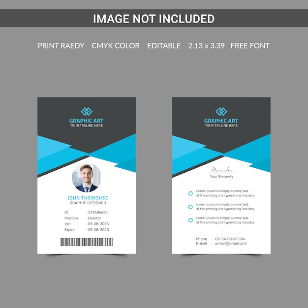 Carte D'identité PSD Premium