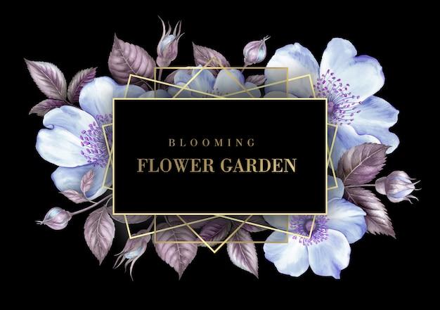 Carte d'invitation avec des fleurs de sakura. PSD Premium