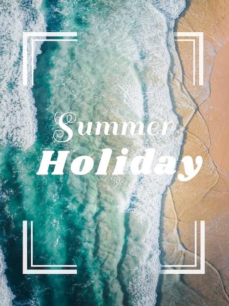 Carte de vacances d'été PSD Premium