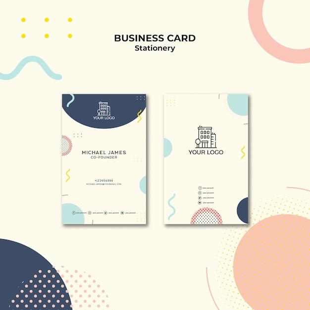 Carte De Visite Au Design Pastel Psd gratuit
