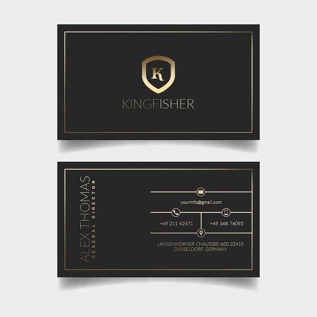 Carte de visite de luxe PSD Premium