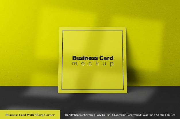 Carte De Visite En Papier Texturé Simple Carré Minimal Avec Maquette De Coin Pointu PSD Premium