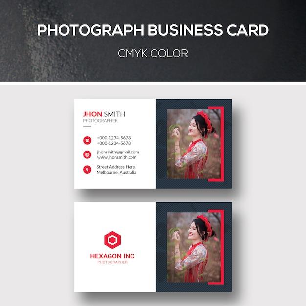 Carte De Visite De Photographie Télécharger Psd Premium