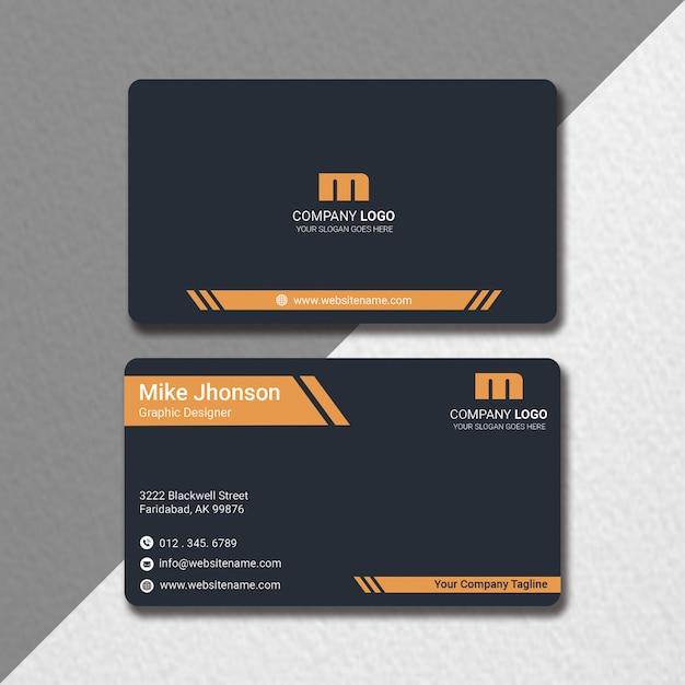 Carte De Visite Plate PSD Premium