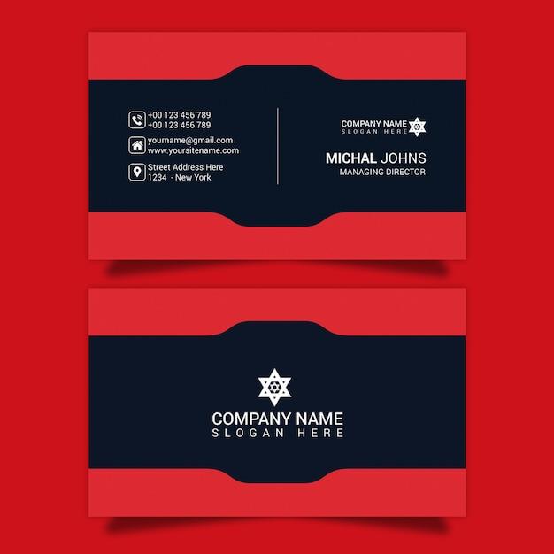Carte de visite psd de forme rouge PSD Premium