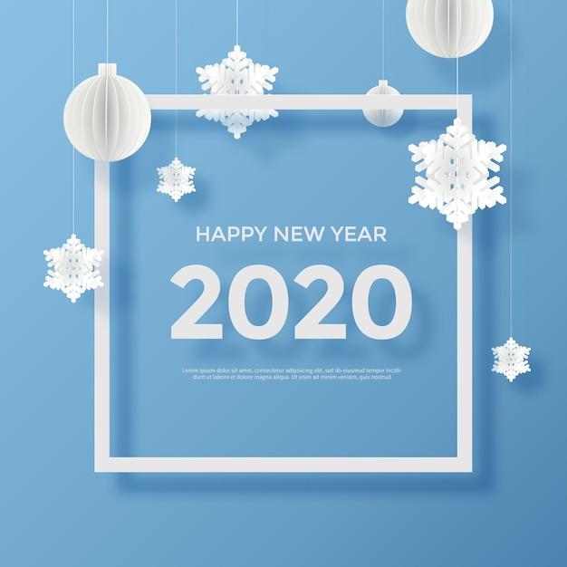 Carte de voeux de bonne année 2020 PSD Premium