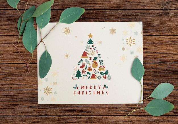 Carte de voeux joyeux noël Psd gratuit