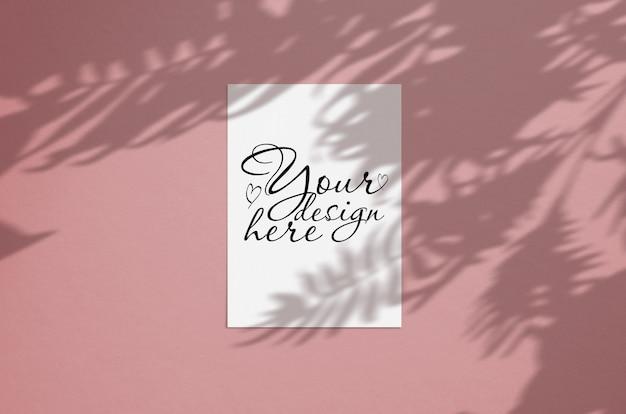 Carte de voeux moderne et élégante ou invitation mock up PSD Premium