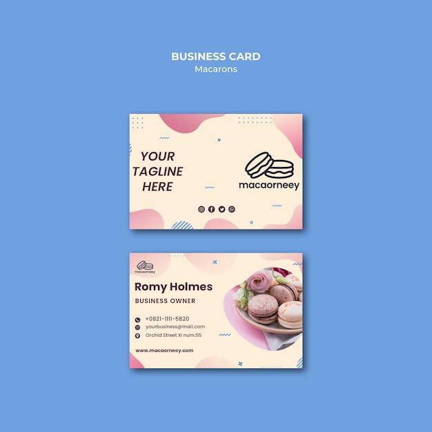 Cartes De Visite Avec Macarons Psd gratuit