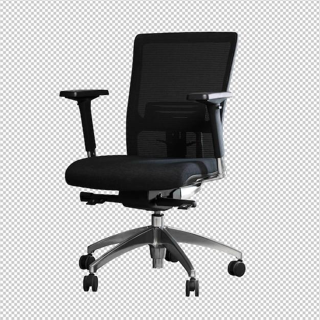 Chaise de bureau sur fond blanc PSD Premium