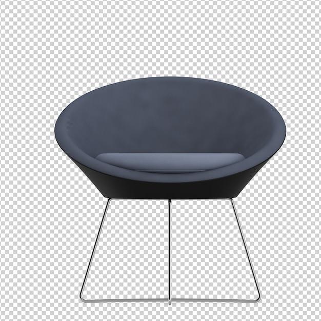 Chaise de bureau isométrique PSD Premium