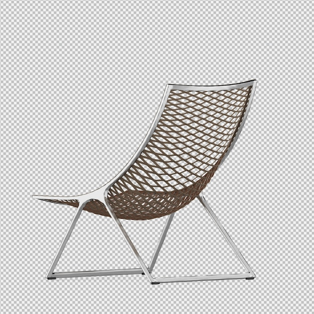 Chaise isométrique 3d rendu isolé PSD Premium