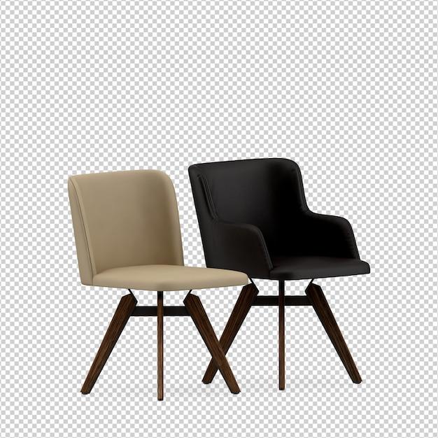 Chaise Isométrique Rendu 3d Isolé PSD Premium